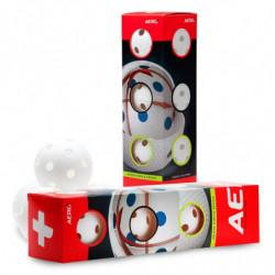 Aero plus floorball match ball 4-pack - weiss