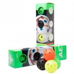 Aero plus floorball match ball 4-pack - color