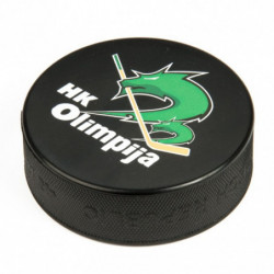 Hockey puck with logo of HK Olimpija