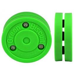 Green Biscuit Rollerhockeypuck